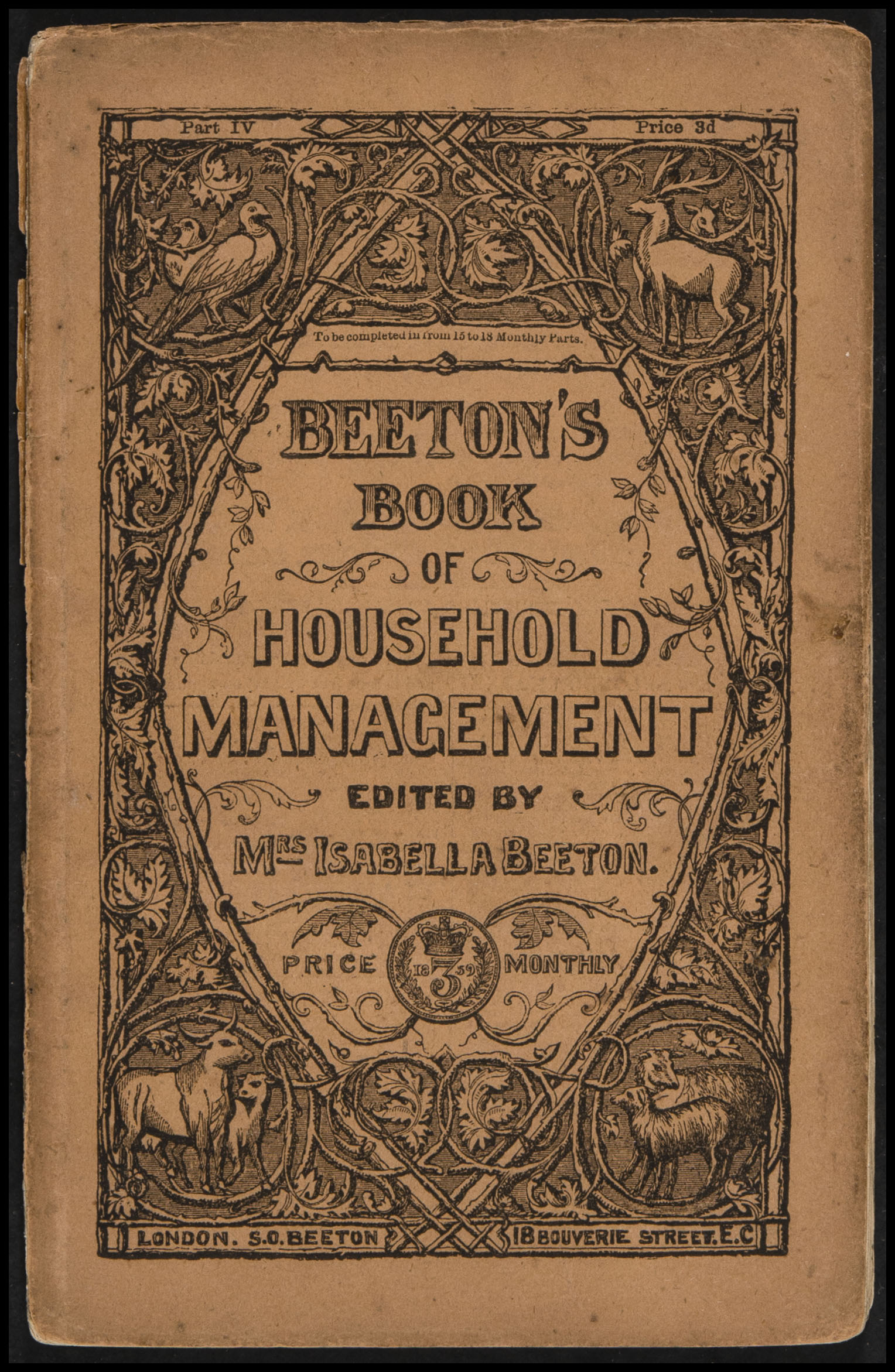 Front cover of Mrs Beeton's Book of Household Management, Part 4 © Material sourced from the University of California, San Diego